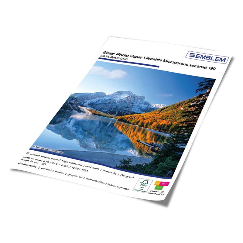Water Photo Paper Ultrawhite Microporous semimatt 190