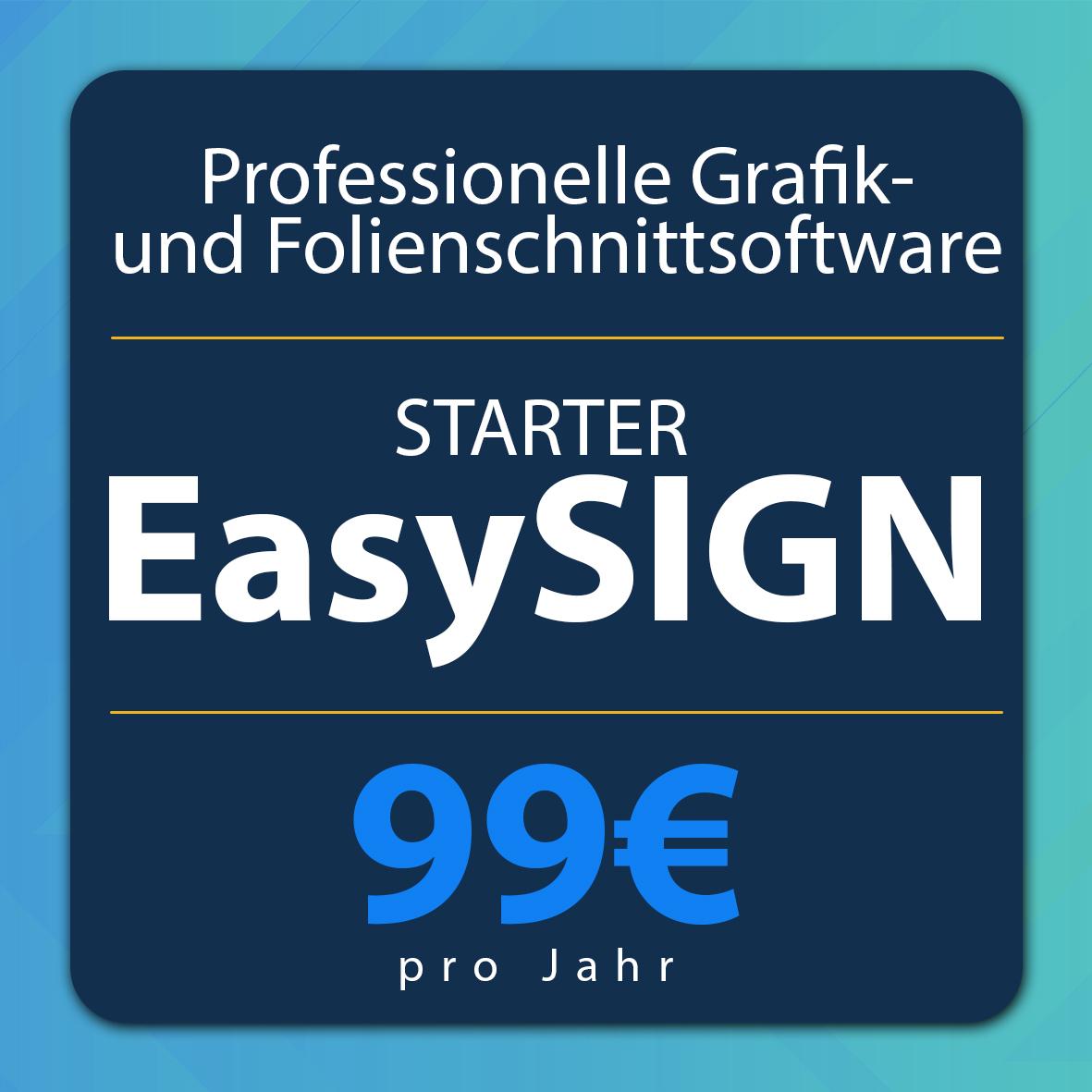 EasySIGN Starter Abolizenz - Professionelle Grafik- und Folienschnittsoftware